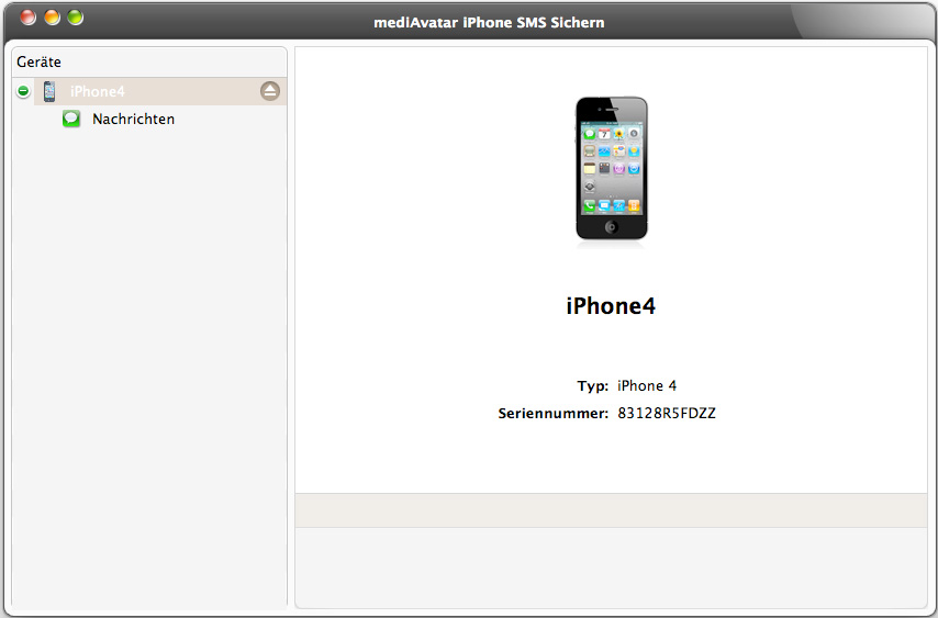 iphone sms sichern mac